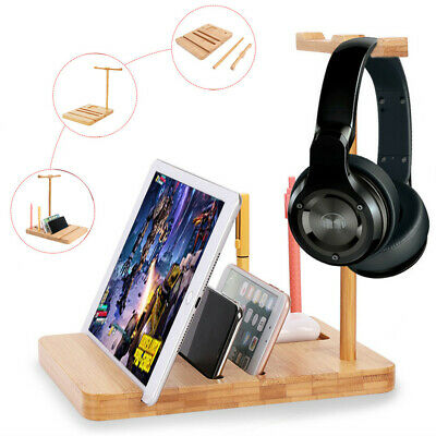 AU18.95 • Buy No Mess Headphone Stand Desk Gaming Headset Holder Hanger Rack With Tablet Slot