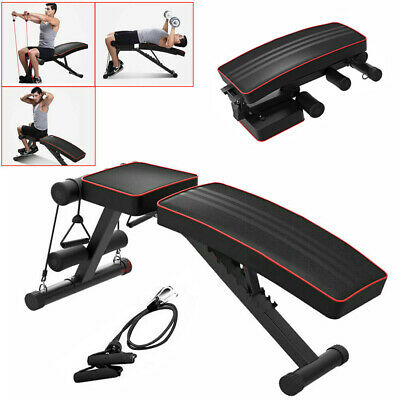 Folding Weight Bench Foldable Heavy Fitness Exercise Gym Incline Decline Bench  • 70.19£
