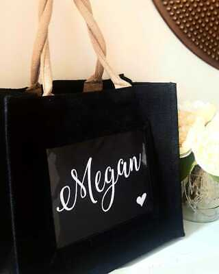£11.99 • Buy New Personalised Jute Bag! Add Any Text! Perfect For Shopping, Gifts, Lunch Etc!
