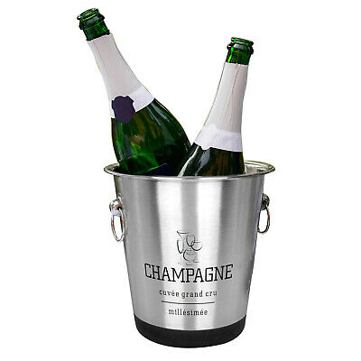 Champagne Ice Cooler Metal Bucket Bottle Wine Stainless Steel Party Bowl Wedding • 9.99£