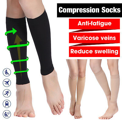 Compression Socks 23-32 MmHg Flight Travel Sports Recovery Shin Splints Swelling • 13.58£