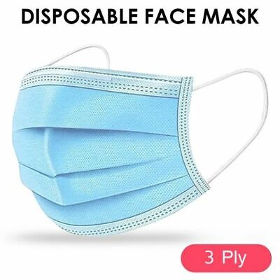 £59.96 • Buy Disposable Face Mask Surgical 3 Ply Mouth Nose Guard Cover Dust Protection