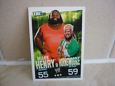 WWE Trading Card Mark Henry & Hornswoggle. ( Tag Team ) Slam Attax Evolution. • 0.99£