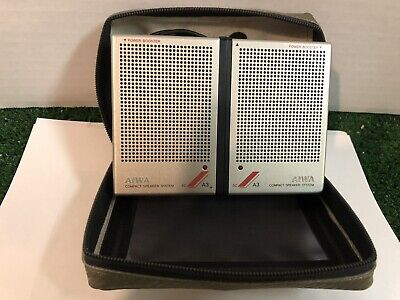 $32 • Buy 1984 Aiwa-A3 Mini Compact Speaker System With Case