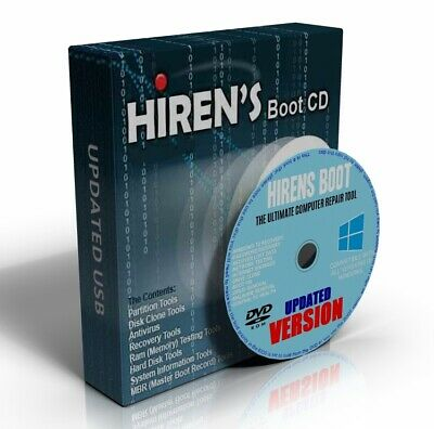 Hirens Boot CD 100s Repair Recover MBR Tools Windows XP/7/8.1/10/Vista NEW DVD • 4.49£