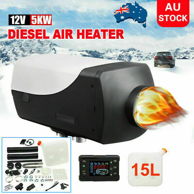 AU311.99 • Buy Diesel Air Heater 12V 2KW Adjustable Tank Thermostat Vent Duct Truck Caravan AU