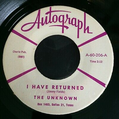 Hear Rare Texas Rockabilly -  The Unknown - I Have Returned - Autograph (felco)  • 10£