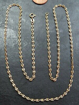 £958.95 • Buy VINTAGE 18ct GOLD GUCCI Or ANCHOR LINK NECKLACE CHAIN 25 1/2 Inch C.1980