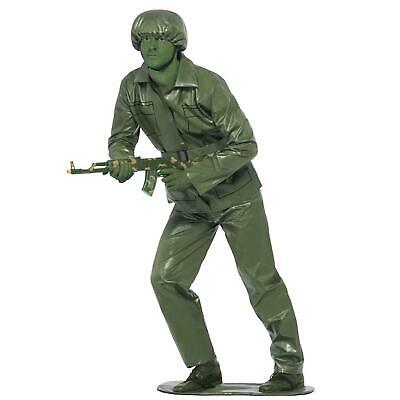 Adult's Toy Solider Green Army Man Funny Halloween Film Fancy Dress Costume Mens • 25.26£