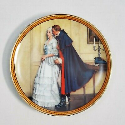 $ CDN31.50 • Buy Norman Rockwell Colonials Bradex Edwin Knowles 1986 Unexpected Proposal Plate