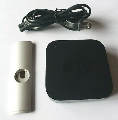 AU57.45 • Buy Apple TV 3rd Gen A1469 Media Player MD199LL/A Wth Remote & Cord But READ DETAILS