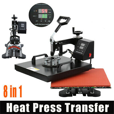 AU313.22 • Buy Ridgeyard 8 In 1 Heat Press Digital Transfer Sublimation T-Shirt Mug Hat 15 X12