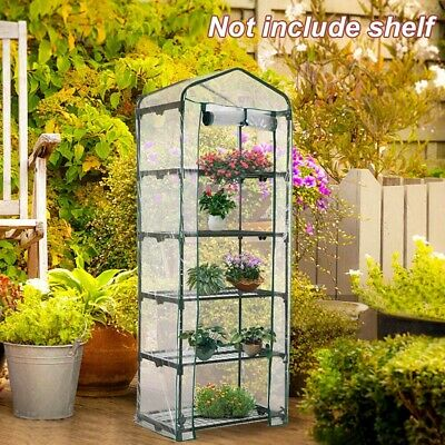 5 Tier Small Greenhouse Bag Garden Plant Cover Clear PVC Plastic Growbag Box NEW • 11.98£