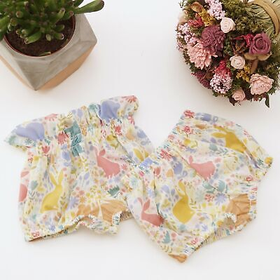 £7.99 • Buy Handmade Ivory Bunny Normal & High Waisted Print Baby Bloomers Easter Rabbit