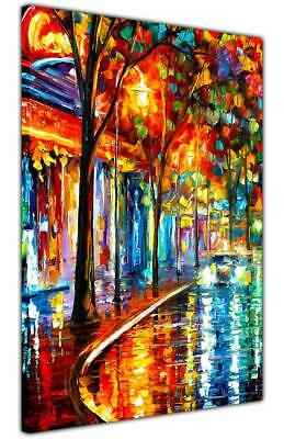 £14.99 • Buy AT54378D Night Cafe By Leonid Afremov Canvas Art Pictures Artwork Abstract Print