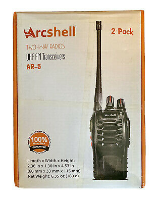 $ CDN64.59 • Buy Arcshell AR-5Rechargeable Long Range 2-Way Radios With Earpiece 4 Pack Uhf FM