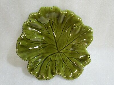 £19.97 • Buy Vintage Secla Portugal Majolica  Cabbage  Leaf  Bowl Plate