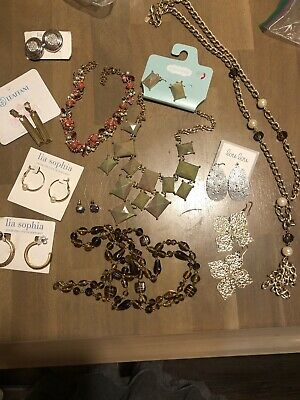 $ CDN25 • Buy Lia Sophia And Others Lot Of 12 Earrings Necklace