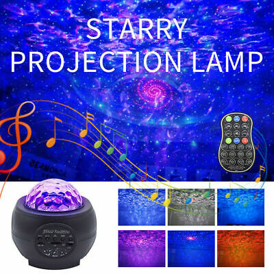 Star Projector Night Light Galaxy Starry Music Ocean Wave Projector Lamp Party • 21.29£