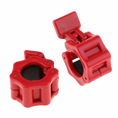 $ CDN13.85 • Buy Pair Olympic Barbell Clamps 2 Inch Quick Release Locking Ring Weight Bar Clip