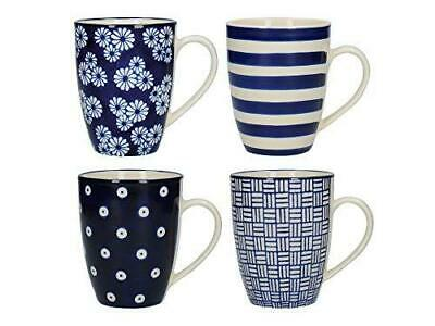London Pottery Out Of The Blue Tulip Coffee Cups / Tea Mug Set 280 Ml (4 Pieces) • 23.99£