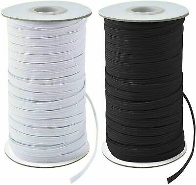 $ CDN9.30 • Buy 10/200 Yards Elastic Band 3/6mm Width Sewing Trim String DIY White/Black Braided