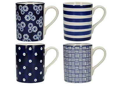 London Pottery Out Of The Blue Tulip Coffee Cups / Tea Mug Set 350 Ml (4 Pieces) • 23.99£