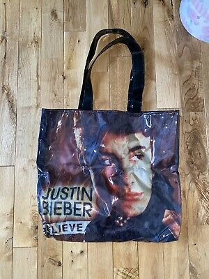 Justin Bieber Silver Circle Goodie Bag From Believe Tour March 2013 • 5£