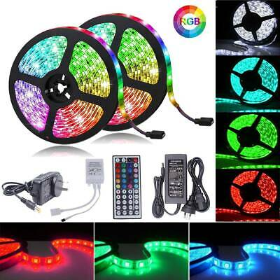 AU19.70 • Buy 1m-30m RGB LED Strip Lights 5050 SMD Waterproof 12V 44key IR Controller Adapter