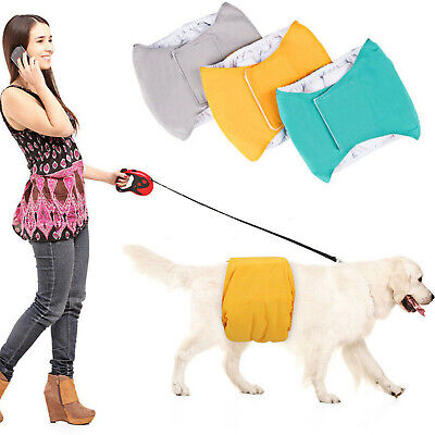 Pet Dog Pants Puppy Sanitary Pants Girth Male Dog Care Belt Diapers Cotton UK • 5.69£