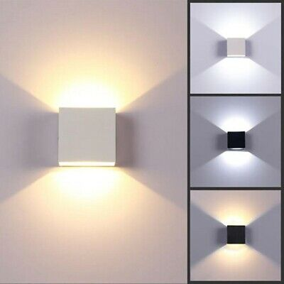 Modern Cube LED Wall Light Lamp Indoor Outdoor Up Down Sconce Light Home Decor • 13.28£
