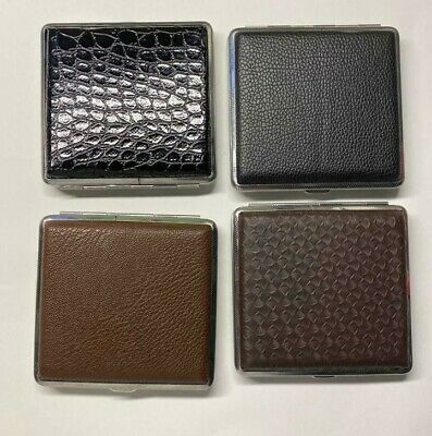 Metal Faux Leather Look Cigarette Case Assorted Designs • 2.99£
