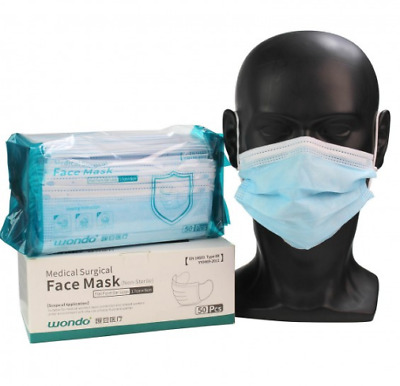 50/100/500 X Type IIR 2R Surgical Mask 3-Ply Medical Grade EN14683 CE Approved  • 11.99£