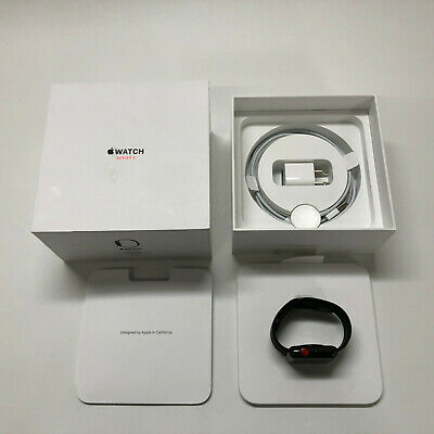 $ CDN429.36 • Buy Apple Watch Series 3 42mm Space Black Stainless Steel Case With Black Sport Band