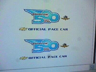$13.99 • Buy 2012 Indy Pace Car Decals  1:24 Custom