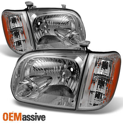$122.99 • Buy Fits 2005 06 Toyota Tundra Double | Crew Cab Headlights With Corner Lights Pair