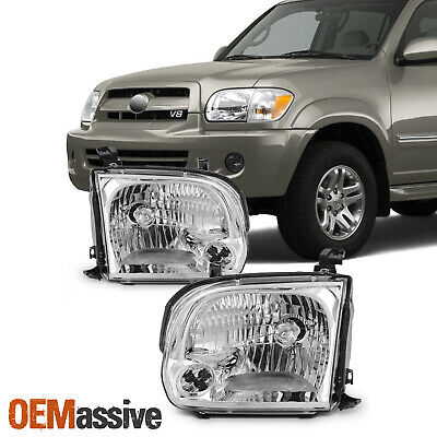 $106.99 • Buy For 2005 2006 2007 Sequoia Tundra Headlights Lights Lamps Left+Right 05 06 07