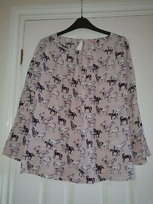 Cath Kidston Top Blouse Wild Horses Size 12 New Tagged • 29.99£