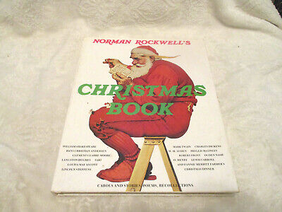 $ CDN7.20 • Buy Norman Rockwell's Christmas Book~HC~DJ~Carols~Poems~Stories~Recollections