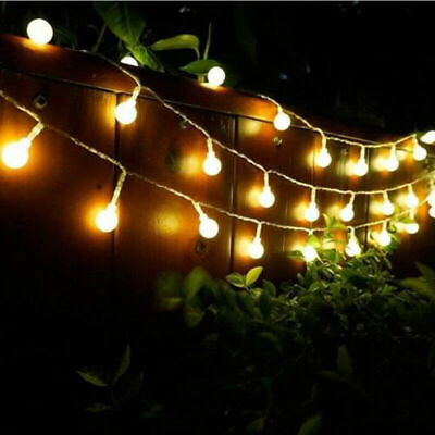 100 200 300 LED Mains Powered Warm Ball String Fairy Lights Indoor Outdoor Lamps • 20.99£