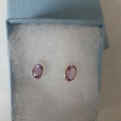 Sterling Silver Amethyst Stud Earrings • 6.99£