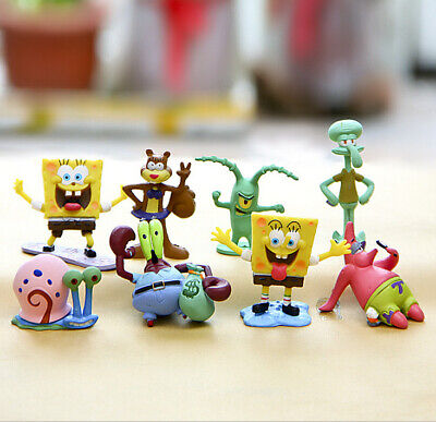 SpongeBob SquarePants TV Action Figures Cake Toppers Doll Set Kids Toy Gift 8pcs • 7.99£
