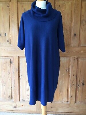 £8 • Buy Navy Jumper Dress Tunic Size 20 - BHS Sophie Gray Collection