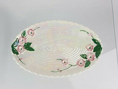 Vintage Maling Lustre Ware Oval Plate  Blossom  Pattern 6584 • 19.95£