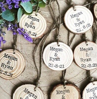 Save The Date / Wedding Favours Wooden Log Slices  • 1£
