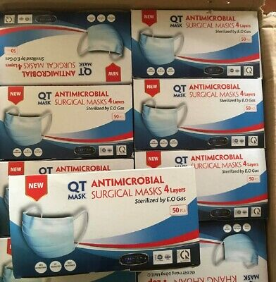 AU39.80 • Buy Box Of 50 Surgical Medical Face Mask 4ply Disposable Made In Vietnam Tga Certifi