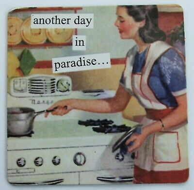 Another Day In Paradise  1950s Housewife  Humour  Fridge Magnet • 5.70£