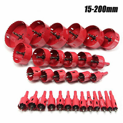 15-200mm Metal M42 HSS Hole Saw Cutter Drill Bit For Aluminum Iron Pipe Wood • 9.99£
