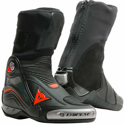 £417.95 • Buy Dainese Axial D1 In Motorcycle Motorbike Track Race Boots - Black / Fluo Red
