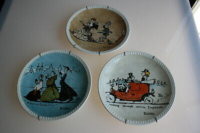 $ CDN24.99 • Buy Newell Pottery USA 1982 Norman Rockwell Society European Tour Plates Set Of 3
